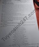 Đề thi học kì 2 lớp 10 môn Văn 2021 - THPT Lệ Thủy