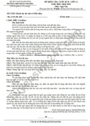 Đề thi học kì 2 môn Văn lớp 12 2021 THPT Đoàn Thượng - có đáp án