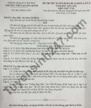 Đề thi thử vào lớp 10 môn Văn lần 1 - THCS Quang Hanh 2021 (Có đáp án)