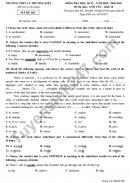 Đề thi học kì 2 năm 2021 THPT Lý Thường Kiệt môn Anh lớp 10