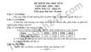 Đề thi học kì 2 năm 2021 THPT Lương Văn Can môn Địa lớp 10