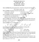 Đề thi học kì 2 năm 2021 môn Hóa lớp 10 THPT Lương Văn Can