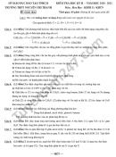 Đề thi học kì 2 môn Hóa lớp 11 năm 2021 THPT Nguyễn Chí Thanh