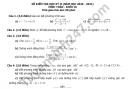 Đề thi học kì 2 môn Toán lớp 10 THPT Lương Văn Can năm 2021