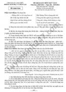 Đề KSCL lớp 9 năm 2021 môn Văn Phòng GD Quận Long Biên - có đáp án