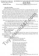 Đề thi thử vào lớp 10 môn Văn THPT Uông Bí 2021 - Có đáp án