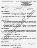 Đề thi thử vào lớp 10 THCS An Lưu môn Toán 2021