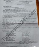 Đáp án đề thi môn Văn vào lớp 10 tỉnh Vĩnh Long 2021