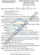 Đề thi KSCL lần 3 lớp 9 môn Toán - THCS Phương Liệt