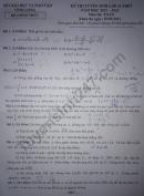 Đáp án đề thi vào lớp 10 môn Toán 2021 - tỉnh Vĩnh Long