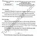 Đáp án đề thi vào lớp 10 môn Văn chuyên - Lào Cai năm 2021