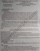 Đáp án đề thi vào lớp 10 THPT Chuyên 2021 - Vũng Tàu môn Văn