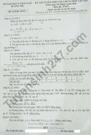 Đáp án đề thi vào lớp 10 THPT Chuyên 2021 - tỉnh Quảng Trị môn Toán