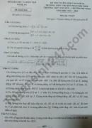 Đáp án đề thi vào lớp 10 THPT Chuyên - Nghệ An môn Toán 2021