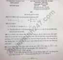 Đáp án đề thi vào lớp 10 môn Toán tỉnh Ninh Thuận năm 2021