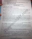 Đáp án đề thi vào lớp 10 môn Văn chuyên - Tây Ninh năm 2021