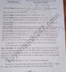 Đáp án đề thi vào lớp 10 môn Toán chuyên Thái Nguyên năm 2021