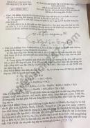 Đáp án đề thi vào lớp 10 năm 2021 môn Hóa chuyên tỉnh Thái Nguyên