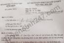 Đáp án đề thi vào lớp 10 tỉnh Bình Định môn Toán năm 2021