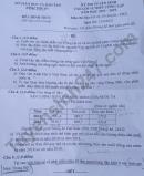 Đề thi vào lớp 10 môn Địa chuyên - Bình Thuận 2021