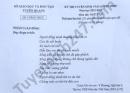 Đáp án đề thi vào lớp 10 năm 2021 tỉnh Tuyên Quang  môn Văn