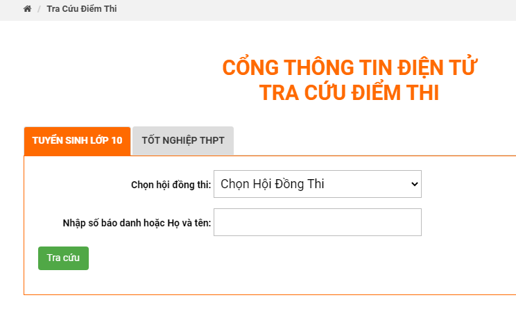 Điểm thi vào lớp 10 tỉnh Đồng Nai năm 2021