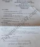 Đáp án đề thi vào lớp 10 chuyên - tỉnh Nam Định môn Toán chung 2021