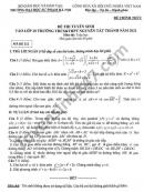Đề thi vào lớp 10 THCS-THPT Nguyễn Tất Thành năm 2021 môn Toán