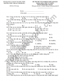 Đề thi thử tốt nghiệp THPT 2021 THPT Thuận Thành số 3 môn Hóa