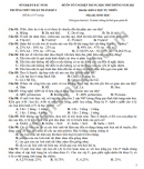Đề ôn thi tốt nghiệp THPT 2021 môn Sinh THPT Thuận Thành số 2-có đáp án