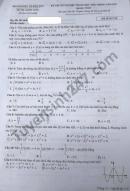 Đáp án đề thi môn Toán - tốt nghiệp THPT 2021 mã đề 110