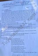 Đáp án đề thi môn Văn vào lớp 10 - tỉnh Bắc Ninh 2021