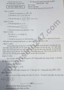 Đáp án đề thi vào lớp 10 tỉnh Kon Tum 2021 - môn Toán
