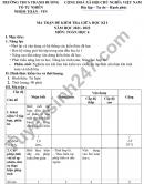 Ma trận đề thi giữa kì 1 môn Toán lớp 6 - THCS Thanh Dương 2021