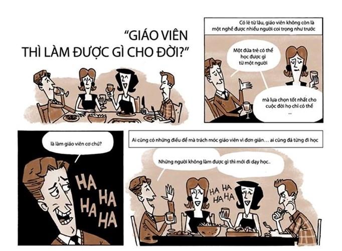 Truyen tranh y nghia ngay nha giao Viet Nam 20/11