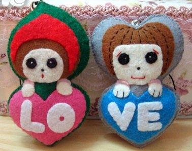Cach lam moc khoa doi tang nguoi yeu ngay Valentine